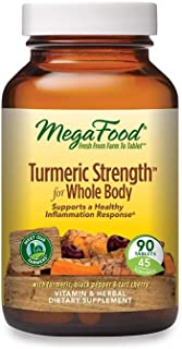MegaFood, Turmeric Strength for Whole Body, Maintains a Healthy Inflammation Response, Vitamin and Herbal Dietary Suppleme...