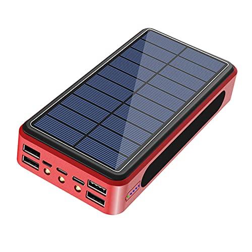 PWQ-01 Cargador Solar Portátil 50000Mah Batería Externa Movil Power Bank Solar [3 Entradas Y 4 Salidas] Banco de Energía Gran Capacidad con Entrada USB C para iPhone Samsung Huawei Tableta