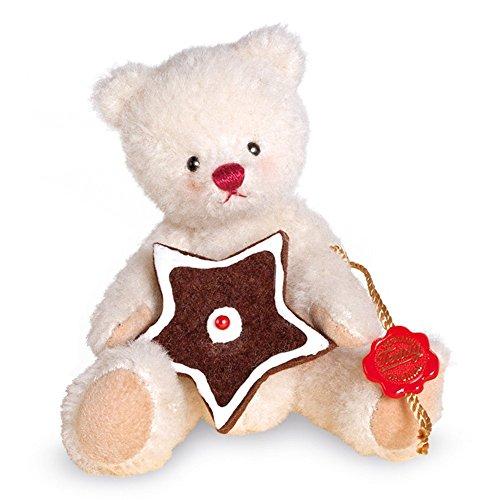 Teddy Hermann 11708 Weihnachtsbärchen mit Lebkuchenstern 14 cm