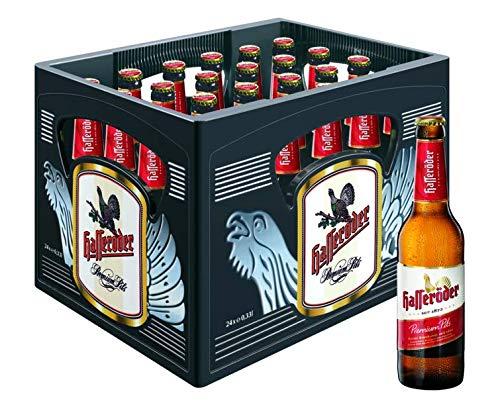 Hasseröder Premium Pils Flaschenbier, MEHRWEG (24 x 0.33 l) im Kasten, Pils Bier