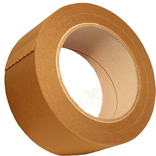 12 x Klebeband 50 mm x 50 m Papier Packband braun 120 my dimapax