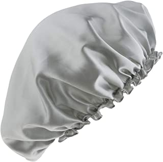 Lovoski Soft Silk Night Sleep Cap Long Hair Care Bonnet Hat Head Cover Band Elastic