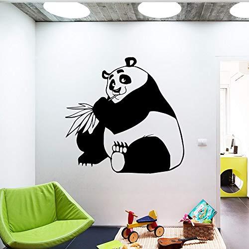 Quszpm Cartoon Panda Vinyl Aufkleber Home Decoration Kinderzimmer Dekoration DIY Home Decoration58 cm x 59 cm