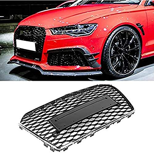 MADAENMJ Kidney Grill, Art Car Front Bumper Grille Grill Fit for Audi A6 / S6 C7 2015 2016 2017 2018 Car Accessories Front Irerseshort