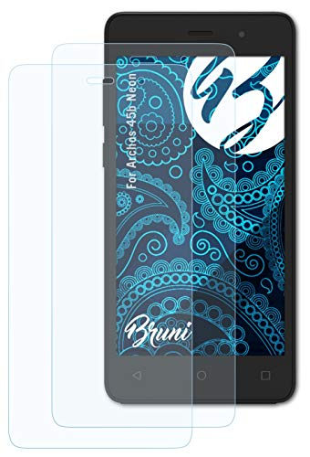 Bruni Schutzfolie kompatibel mit Archos 45b Neon Folie, glasklare Bildschirmschutzfolie (2X)