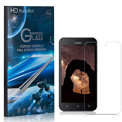MelinHot Displayschutzfolie für Huawei Ascend Y560, 99% Transparenz Schutzfilm aus Gehärtetem Glas, 9H Härte, Keine Luftblasen, 3D Touch, 2 Stück