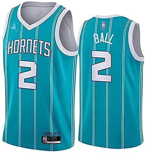 WEIZI Ropa Jerseys de Baloncesto para Hombres, NBA Charlotte Hornets # 2 Lamelo Ball - Chaleco Transpirable Suelto Uniformes Classic Comfort Camiseta sin Mangas Tops(Size:/ XXL,Color:G1)