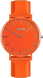 Relojes de pareja Escala del clavo con Correa de silicona, Dial minimalista de 2 punteros Casual Relojes de pulsera para hombres mujeres