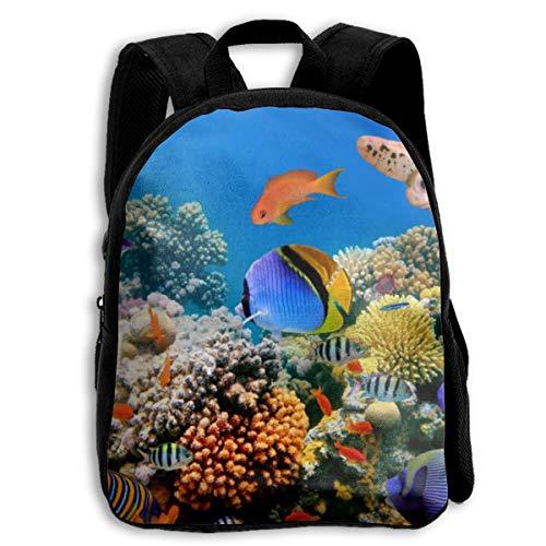 OuJin Baby Child Funny Aquarium Preschool Schoolbag Bags Backpack Satchel Rucksack for Girls Black