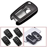 Xotic Tech TPU 2 3 4 5 Buttons Flip Remote Key Fob Case Cover for Chevrolet Camaro Cruze Equinox Malibu SS Sonic Spark Volt/for Buick Lacrosse Encore GL8 Regal Excelle, Black