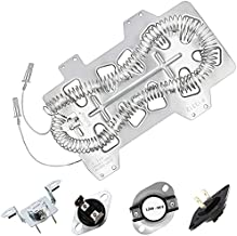 Dryer Heating Element DC47-00019A, DC96-00887A and DC47-00016A Thermal Fuse, DC32-00007A Dryer Thermistor, Thermostat DC47-00018A Repair Kit Compatible With Samsung, Figure 7 is Fit Models