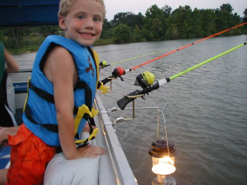 Pontoon Boat Rail Fishing Rod Holder