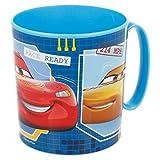 ALMACENESADAN 2218, Tazza Disney Cars; capacità 360 ml; Riutilizzabile, Prodotto di plastica; BPA Gratuito
