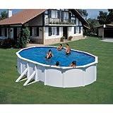 FEELING 610 x 375 x 120 cm pool-juego de revestimiento de acero blanco con muchos accesorios de la piscina-temporada