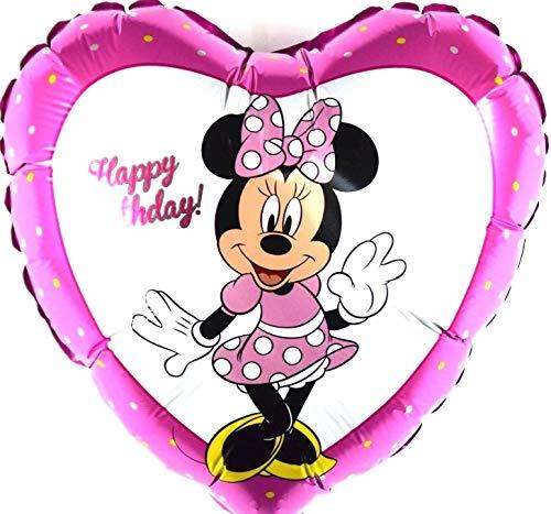 SauParty Disney Minnie Maus Geburtstag Herz Helium Folienballons Micky Balloon NEU