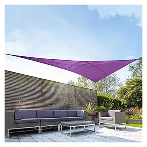WULIL Vela De Sombra Impermeable, Triangular Al Aire Libre, Patio, Fiesta, Protección Solar, Toldo, Toldo con Anillos En D De Metal para Jardín De Patio Al Aire Libre (Color : Purple, Size : 2x2x2m)