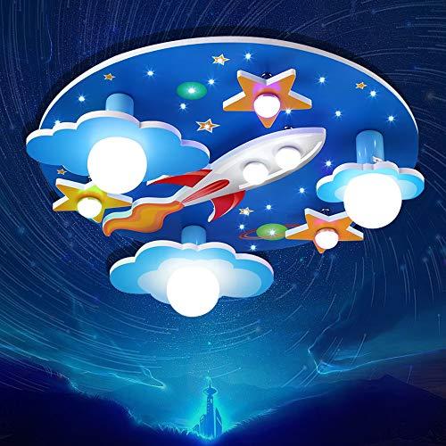 E27 Deckenlampe Kinderzimmerlampe Deckenleuchte Universum Sterne Jungen Und Mädchen Dimmlüster E14 Deckenspot LED Baby Lampe Licht Schlafzimmer Umgebung Für Cartoon Deckenbeleuchtung Lampeschirm