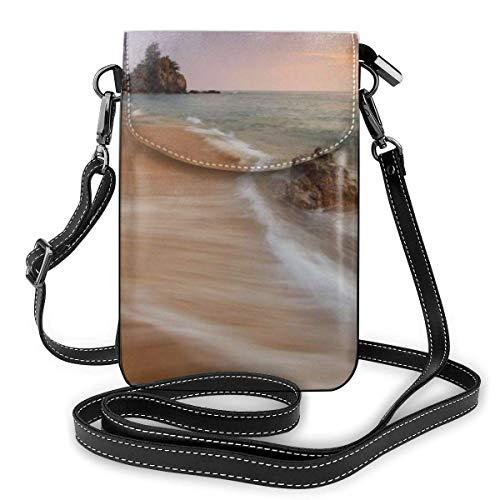 Moda de playa pequeño teléfono celular monedero multiusos bolso de hombro cartera