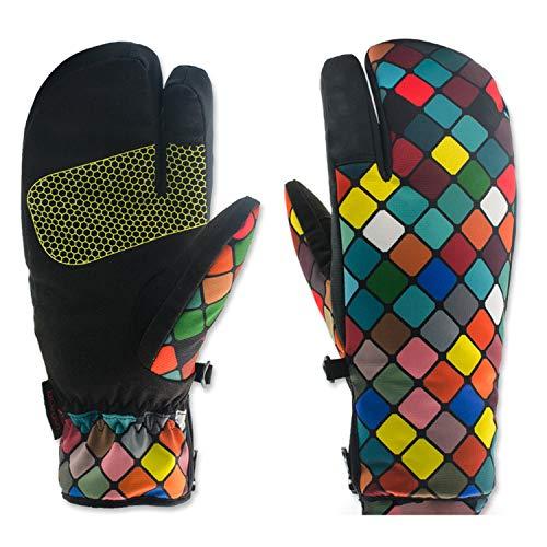 Skihandschuhe, wasserdichte wärmste Winter Schneehandschuhe für Herren, Damen, 1 Paar Handschuhe, Grillhandschuhe, Arbeitshandschuhe, (Color : Multi-colored, Size : S)