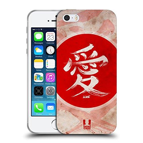 Head Case Designs Amore Kanji Cover in Morbido Gel e Sfondo di Design Abbinato Compatibile con Apple iPhone 5 / iPhone 5s / iPhone SE 2016