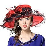VECRY Mujeres Lglesia Derby Vestido Fascinator Gorro Nupcial