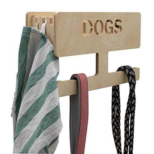 INEXTERIOR Hundegarderobe personalisierbar - in Deutschland gefertigt (Natur, personalisiert)