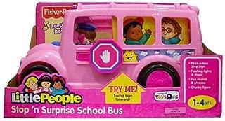 Fisher-Price Little People Stop 'n Surprise School Bus Pink