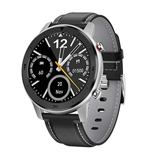 """Smart Watch, Popglory Smartwatch HR, Touchscreen 1.3"""" Fitness Watch with Blood Pressure Monitor, IP68 Waterproof Fitness Watch, 15 Days Battery Life Compatible with Android Phones and iPhone"""