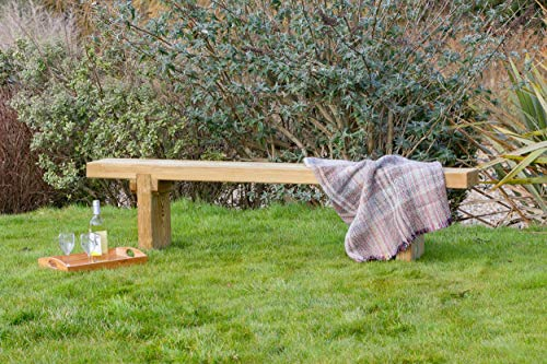 Parcel in the Attic Elche Solid Wood Outdoor Furniture Garden Dining Bench - 10 Year warranty against rot