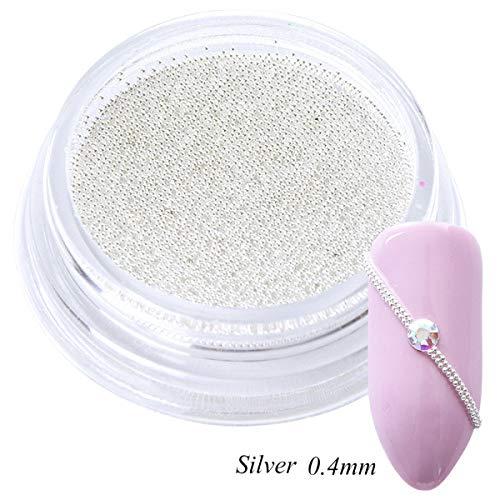 0,4mm 3D Micro Stahl Perlen Mischfarbe Nail art Dekorationen Mini Kleine Kaviar DIY Charms Stud Maniküre Zubehör Nagel Werkzeug