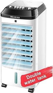 Qinmo Refrigeradores evaporativos de Aire portátil del refrigerador del acondicionador, 12 Horas refrigerado por Agua temporizado Individual Doble refrigerador de Aire del Tanque de Agua y Ventilador