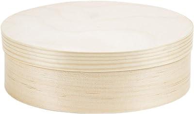 1,2 litros Tapa caja ovalada caja de madera tapa caja Cofre Madera: Amazon.es: Hogar