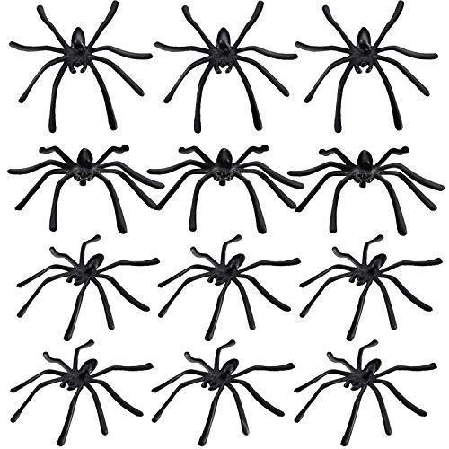 Boao 240 Pezzi Ragni di Halloween Ragni di plastica Piccoli Giocattoli di Ragno Ragno per i rifornimenti di Decorazione del Partito di Halloween