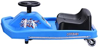 Megastar 2724568898029 - New Kids Ride on Car with Power Steering Crazy Cart