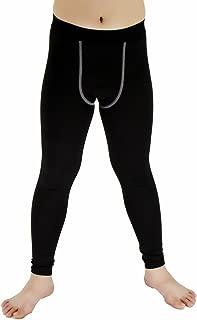 Lanbaosi Boys & Girls Sports Thermal Compression Base Layer Legging Tights Pants