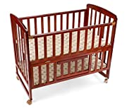 Made of Pinewood with polished finish Certified as per European Standards (EN Passed) Cot is easily converted to a Cradle Includes separate mosquito net The fabric-wrapped cot base is robust with good air flow. (No mattress included) Recommended age ...