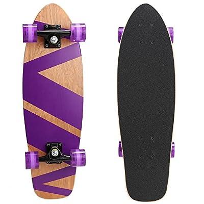 WeSkate Skateboard Komplett Board 79x20cm Holzboard ABEC-7 Kugellager 31 Zoll 7-lagigem Ahornholz, 85A Rollen für Anfänger Kinder Jugendliche und Erwachsene