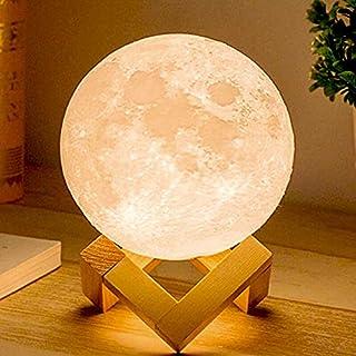[La Verre] ライト 照明 月 ムーン インテリア リモコン タッチセンサー 間接 テーブルランプ 置物 USB充電式 ベッドサイド プレゼント ギフト 12cm