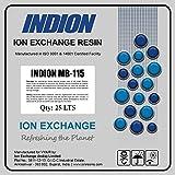 Vyair Indion Resina Lecho mixto MB-115 de cambio de color de iones para aplicaciones de agua pura en zonas de aguas blandas (1 litro)
