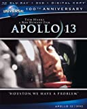 APOLLO 13  : Blu-ray + DVD +  SLIPCOVER -  Tom Hanks NEW 100TH Anniversary