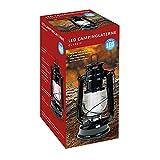 Idena Classic 10032443 - Lámpara de aceite para acampada (12 ledes, intensidad regulable, 25 cm aprox. de altura)