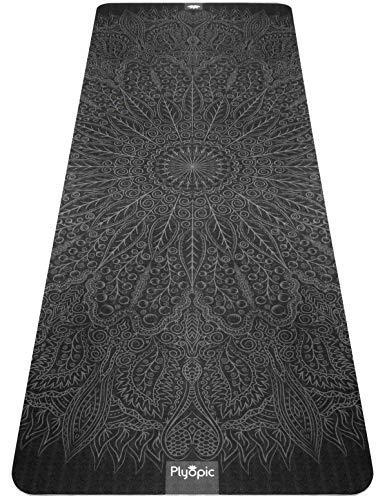 Plyopic Yogamatte mit Muster | Umweltfreundliche, rutschfeste Matte mit Trageriemen. 6mm. Ideal für Yoga, Pilates, Fitness, Übungen und Workouts