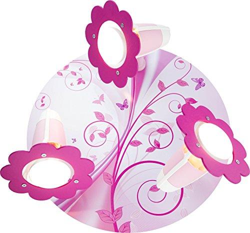 Elobra Kinder Lampe Deckenleuchte Phantasie Rondell Kinderzimmer Holz, rosa 131510