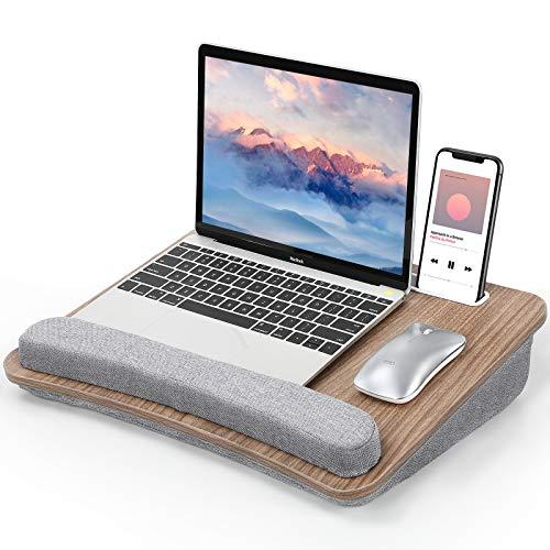"""Vassoio per Laptop Furminics con Cuscino,Porta Tablet e Tasca Portaoggetti, per Letti, Divani e Scrivanie,Adatto per Notebook Fino a 15.6"""""""