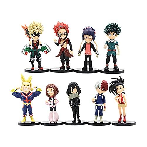 9 Unids / Set My Hero Academia Figura De Anime Juguetes De Modelos Coleccionables Adornos De Escritorio Decoración De Pasteles Muñeca