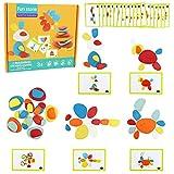 Juguetes Niños Montessori Piedras de Equilibrio de Apilamiento 36pcs Bloques Construcción Bebé Puzzle Juguetes Juegos Educativos de Mesa Regalos para Niños Niña 3 4 5 Años