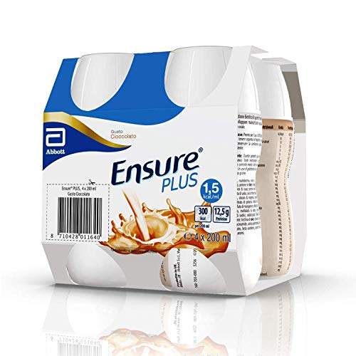 Ensure Plus Supplemento Nutrizionale Formato Bevanda | Confezione 4x200ml | Gusto Cioccolato
