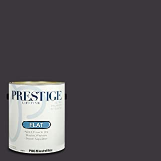 Prestige Paints P100-N-SW6988 Interior Paint and Primer in One, 1-Gallon, Flat, Comparable Match of Sherwin Williams Bohemian Black, 1 Gallon, SW236-Bohemian
