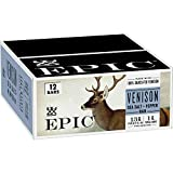 EPIC Venison Sea Salt & Pepper Bars Keto Friendly, Gluten Free, 12 ct