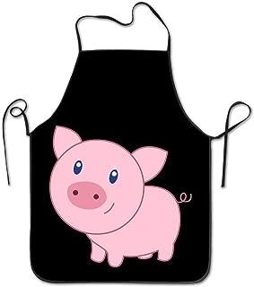 NVJUI JUFOPL Cute Cartoon Pig Women and Men Cooking Gardening Kitchen Chef Apron
